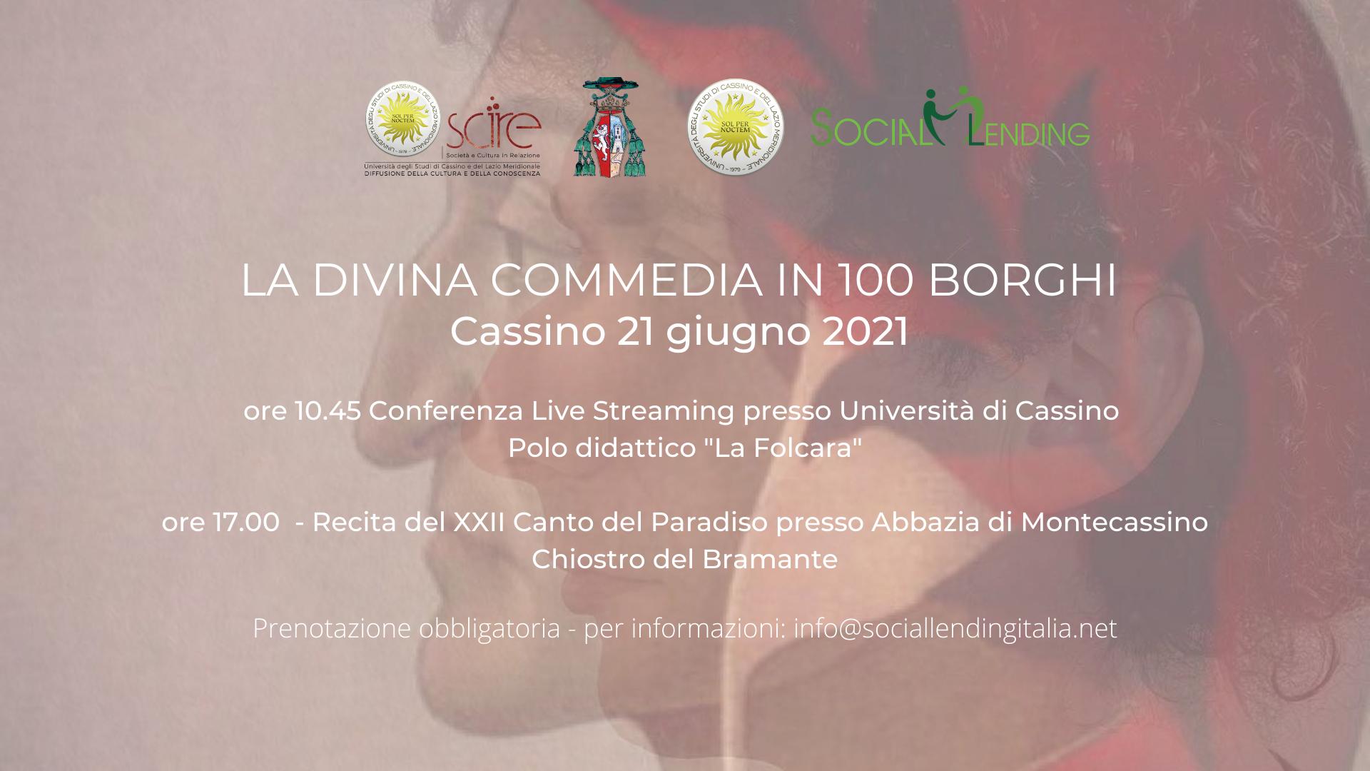 LA DIVINA COMMEDIA IN 100 BORGHI banner